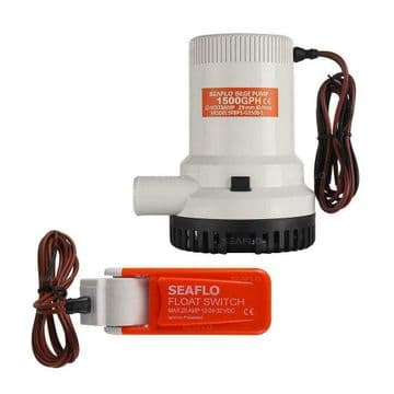 SEAFLO 24v 1500GPH SUBMERSIBLE MARINE BILGE PUMP with AUTO FLOAT SWITCH ce